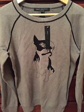 MARC BY MARC JACOBS OLIVE SWEATER IN GREY SZ L NWT