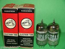 Matched Pair RCA 5751 3 Mica Black Plates Vacuum Tubes Very Strong & Balanced
