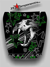 Arctic Cat Wildcat 1000 Hood Graphic Decal Sticker Skull Cat Green