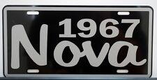 1967 67 NOVA METAL LICENSE PLATE SS SUPER SPORT 327 350 396 454 CONVERTIBLE
