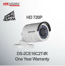HIKVISION Bullet Color Camera HD 720P 2.8mm Lens DS-2CE16C2T-IR Outdoor & Indoor
