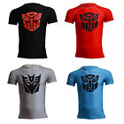 New Crew Neck Comic T-Shirt Transformers Casual Tees Mens Sport Fitness Gym Tops