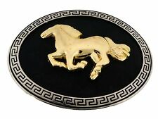 Horse Shoe Western Head Gold and Vintage Belt Buckle Cowboy Cowgirl Womens New