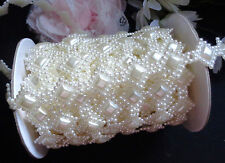 ivory pearl flatback beads trimming price for 1 yard