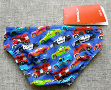 SPEEDO Boys ER Cars Swimming Brief Size 4 Endurance+ Black BRAND NEW with tags