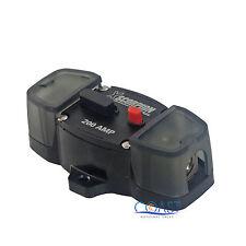 Car Stereo 12V 200 Amps Power Circuit Breaker w/Manual Reset & Terminal Block