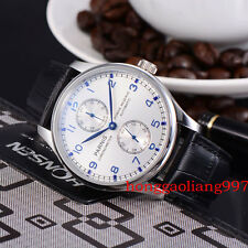 43mm Parnis Power Reserve Blue Marks  Automatic mechanical Mens Watch 48