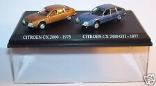 COFFRET ATLAS DUO 2 METAL UH CITROEN CX 2000 BRONZE 1975 +2400 GTI  1977 HO 1/87