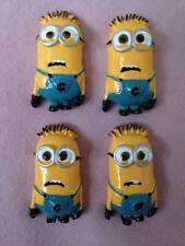 4 x Minion Despicable Me Flat Back Resins Embellishments Hair Bow Cake Card