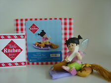 My Little Kitchen Fairies Fortune Cookie Fairie Figurine Enesco 4026835 New
