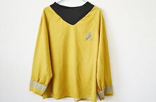 Star Trek Starfleet Captain Kirk Costume Shirt Uniform Mens Large
