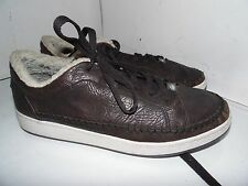 Lacoste Revan Brown Leather Sneakers Mens Size 13