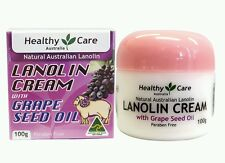 2 ×Healthy Care Lanolin Cream With Grape Seed 100g - OzHealthExperts