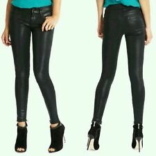 GUESS BY Marciano Luxe Denim No.68 Skinny Leatherette Jean Coated Black $168 23