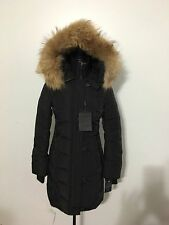 NWT Women's MACKAGE Evalia Down Coat with Fur Trim, X-Small, Black