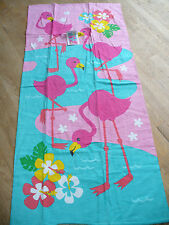 New Pink Flamingo Beach / Bath Towel Plush 28 x 60 Cute!