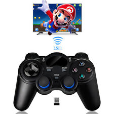2.4GHz Wireless Game Controller Gamepad Joystick w/ OTG Converter for TV Box