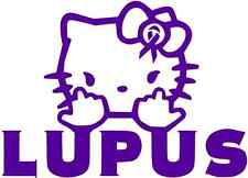 HELLO KITTY  AWARENESS Vinyl Decal Window Sticker for LUPUS SUPPORT