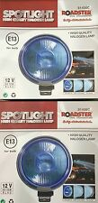 "ANGEL EYE BLUE PAIR 12V CAR 2X 9"" CHROME SPOTLIGHTS 4X4 BOAT SPOT LIGHTS TRUCK"