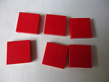 LEGO PART 3068A RED 2 x 2 SMOOTH TILE x 6