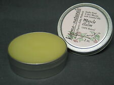 MUSCLE BALM & Pain Relief - Natural Homeopathic with Essential Oil Aromatherapy