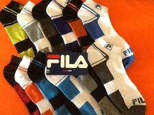 FILA SHOCK DRY ATHLETIC SOCKS  (6 PAIRS) - FREE SHIPPING