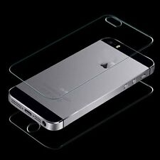 Front and Back Tempered Glass Film Screen Protector Guard for iPhone 5 5G 5S New