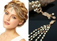 Bohemia Metal Chain Headband Rhinestone Heart Pendant Headpiece Head Jewelry