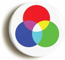 LIGHT SPECTRUM COLOURS SCIENCE BADGE BUTTON PIN (Size is 1inch diameter) GEEK