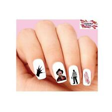 Waterslide Nail Decals Set of 20 Halloween Freddy Nightmare on Elm Street Asstd.