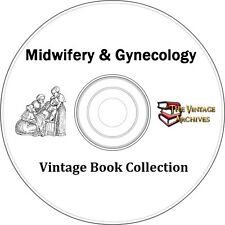 Midwifery & Gynecology Vintage Book Collection on CD  - Midwife, Obstetrics