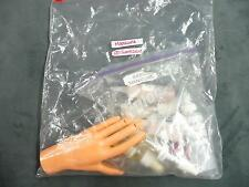 Cosmetology school cosmetics manicure practice hand and kit nail polish