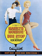 MARILYN MONROE BUS STOP Movie Poster- QUALITY CANVAS ART PRINT A4