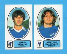 PANINI CALCIATORI 1977/78 - Figurina n.387- NICOLINI+MALGIOGLIO-BRESCIA -Rec