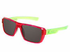 Under Armour Recon Clear Red Frame Green Arms Gray Mirror Lens Adjustable Nose