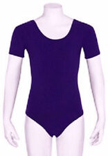 Mondor 496 Child's Medium (7-10) Violet Purple Short Sleeve Leotard