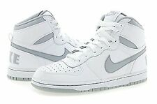 NIB MENS NIKE BIG HIGH RETRO WHITE WOLF GREY BASKETBALL ATHLETIC SHOES Sz 10
