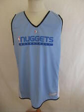 Maillot de basket réversible vintage NBA NUGGETS Champion Bleu Taille L