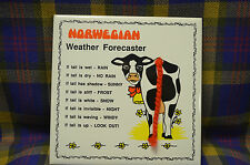 "Vintage BERGGREN ORIGINAL 6"" Handscreened ""Norwgian Weather Forecaster"" Tile"