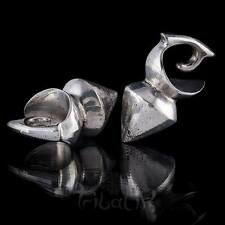 White Bronze Ear Weights Gauge Jewelry Stretched Lobe Jewellery (12)