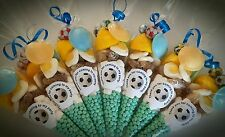 Pre filled FOOTBALL sweet cones party bags birthday PERSONALISED ANY TEAM