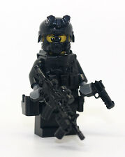 SWAT Assaulter Rifleman Police Officer Minifigure made with real LEGO(R) parts
