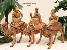 "FONTANINI DEPOSE ITALY EARLY 5"" 3 KINGS ON CAMELS NATIVITY VILLAGE FIGURES 51514"