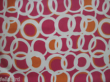 "HARLEQUIN SCION CURTAIN FABRIC DESIGN ""Zsa Zsa"" 2.8 METRES CHILLI/LINEN/PEONY"