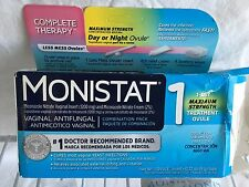 Monistat Complete Therapy Vaginal Antifungal 1 Day Ovule +Cream +Wipes Exp 2018
