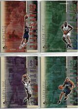 """1999-00 Sp Authentic 4-card """"SP Athletic"""" Insert Lot   Grant Hill   Vince Carter"""