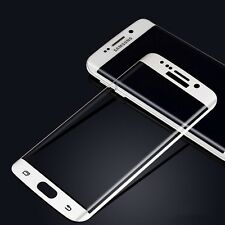 S7 Edge-White Samsung Galaxy Full Curved 3D Tempered Glass Screen Protector UK