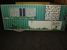 VINTAGE TOY  1962 MATTEL FOLD UP CARDBOARD BARBIE'S DREAM HOUSE with FURNITURE