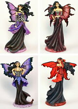 "Amy Brown ""Goth"" Series Fairy Figurine Set of 4 2011"