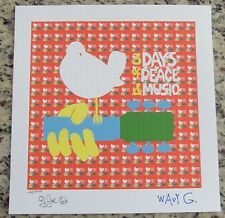 "BLOTTER ART ""WOODSTOCK"" SIGNED AND NUMBERED by COUNTRY JOE & WAVY GRAVY"
